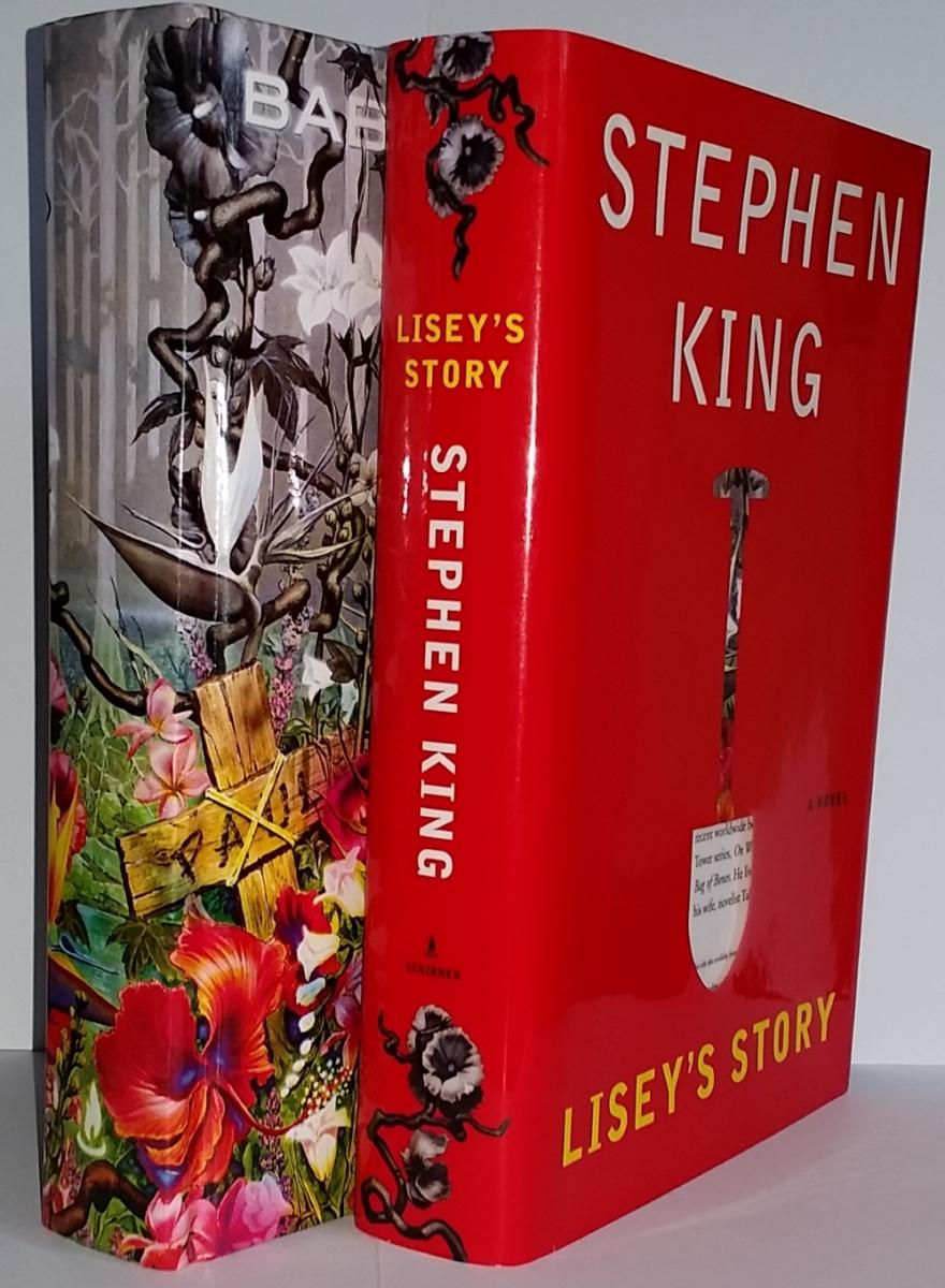 """""""Lisey's Story"""" - książka i obwoluta z widocznym wycięciem w kształcie szpadla - obrazek"""