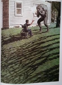 """""""Cycle of the Werewolf"""" - ilustracja Bernie Wrightsona - obrazek"""
