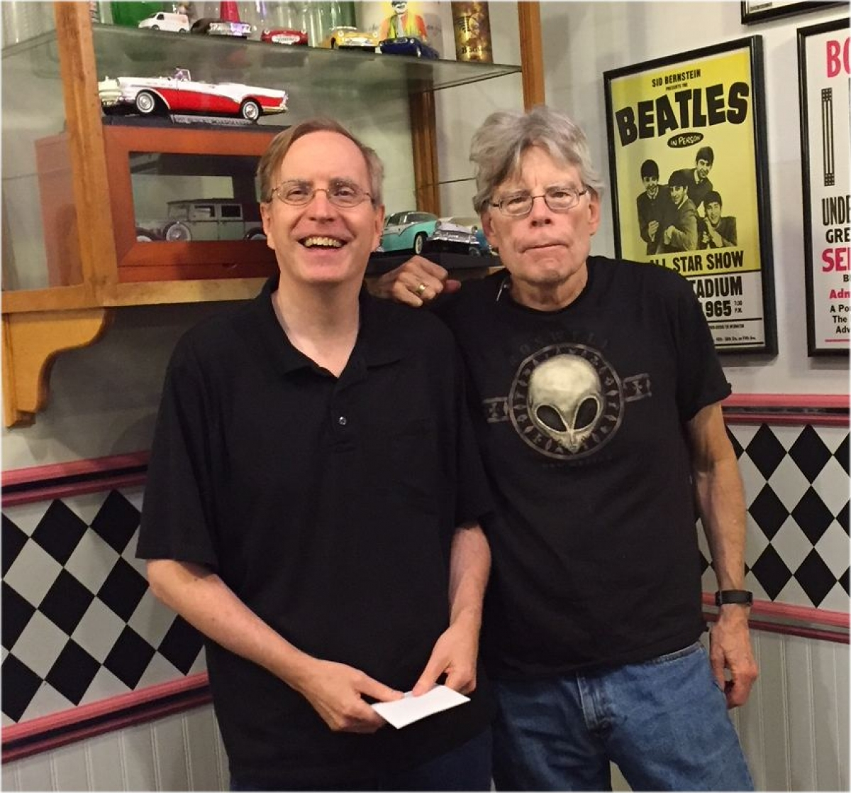 Bev Vincent i Stephen King w Nicky's Cruisin' Diner (foto: Richard Chizmar) - obrazek