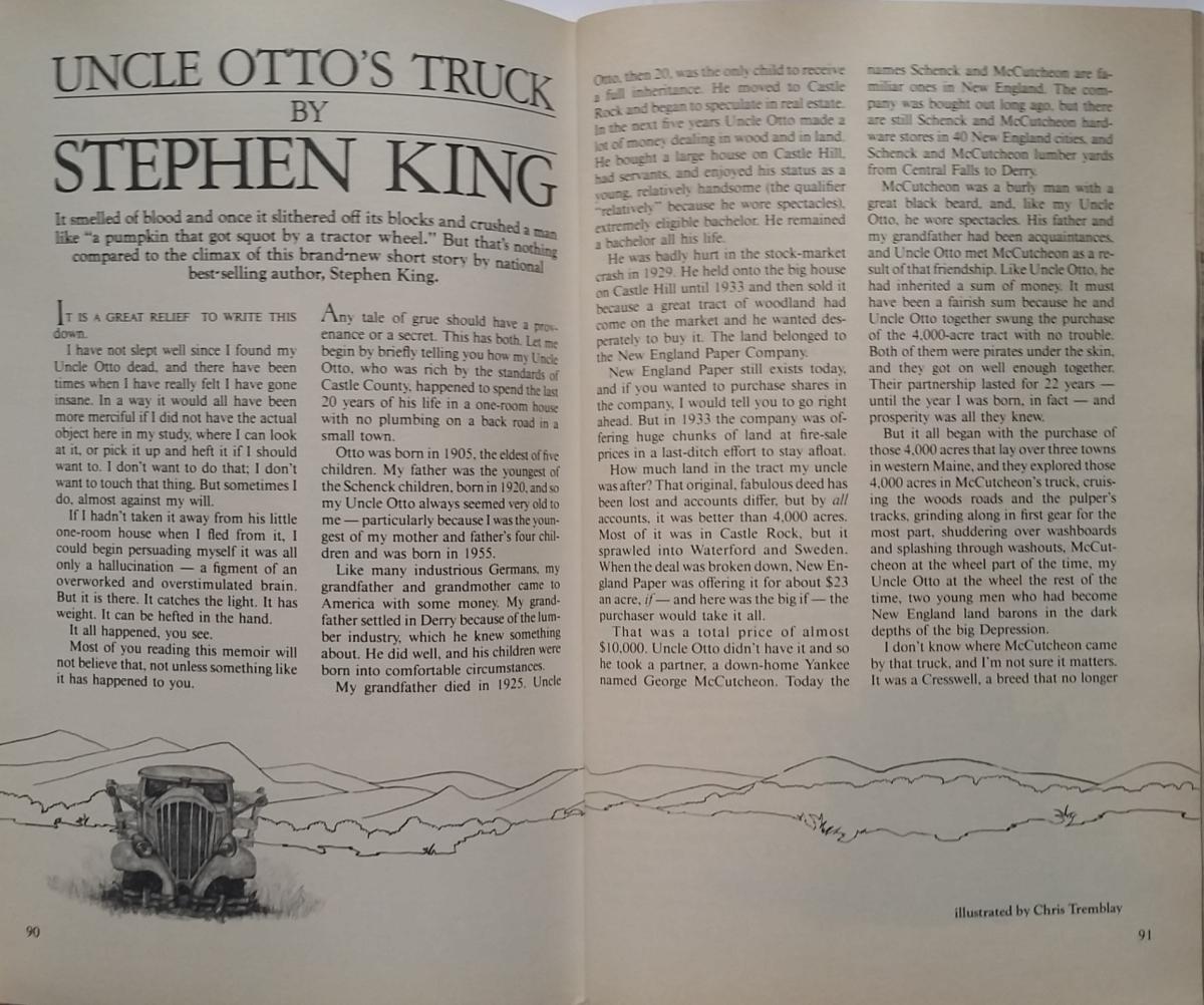 """""""Yankee"""" 10/83 - z opowiadaniem """"Uncle Otto's Truck"""" - obrazek"""