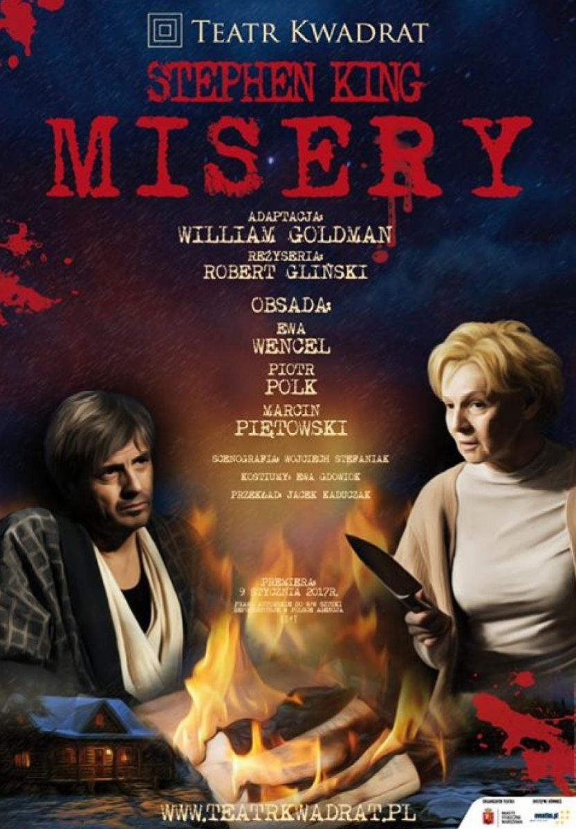 Misery - plakat spektaklu Teatru Kwadrat - obrazek