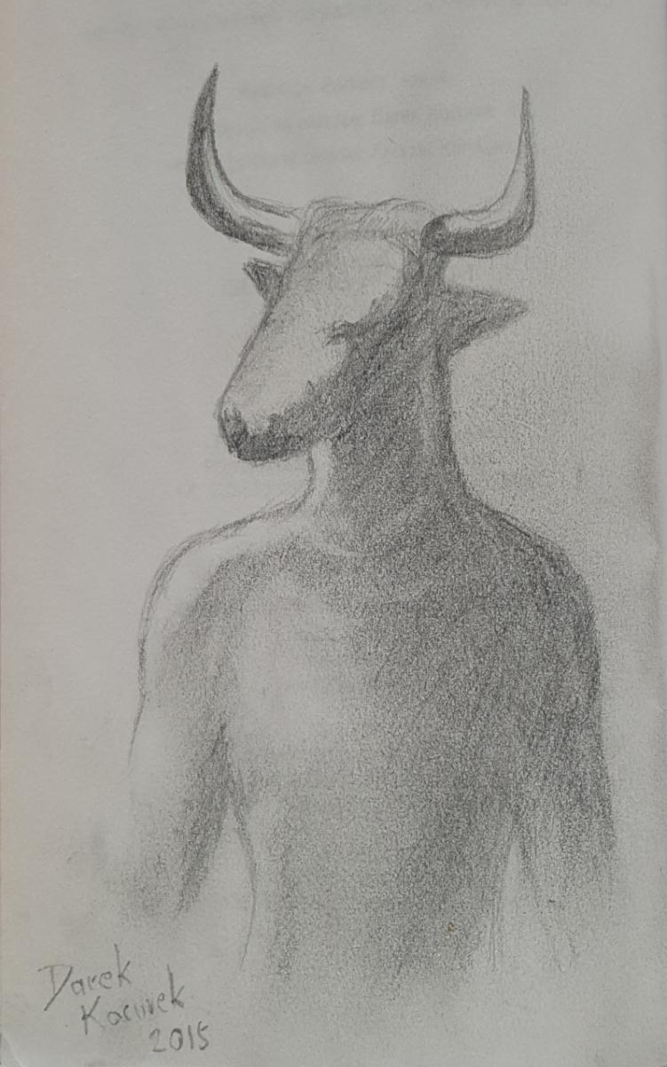 """""""Rose Madder"""" - rysograf i autograf Darka Kocurka - obrazek"""