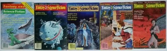 Fantasy & Science Fiction - komplet 5 numerów