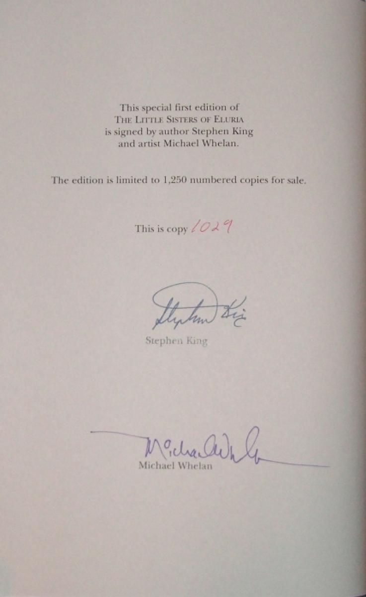 The Little Sisters of Eluria (Grant) DE - autograf Stephena Kinga i Michaela Whelana - obrazek