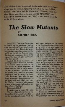 Fantasy & Science Fiction 7 1981 strona tytułowa noweli The Slow Mutants