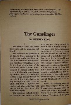 Fantasy & Science Fiction 10 1978 - strona tytułowa noweli The Gunslinger