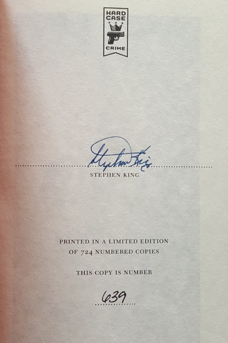 """Joyland"" (Titan Books) strona z autografem - obrazek"
