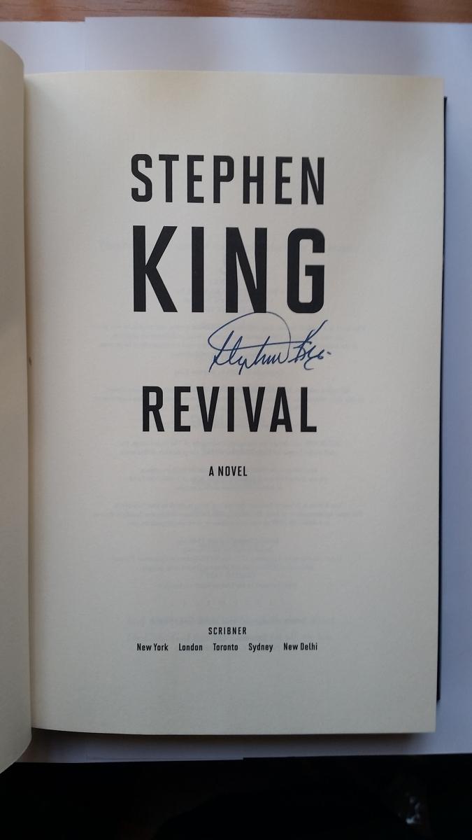 """""""Revival"""" - autograf Stephena Kinga - obrazek"""
