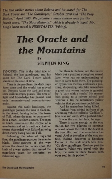Fantasy & Science Fiction 2 1981 strona tytułowa noweli The Oracle and the Mountains