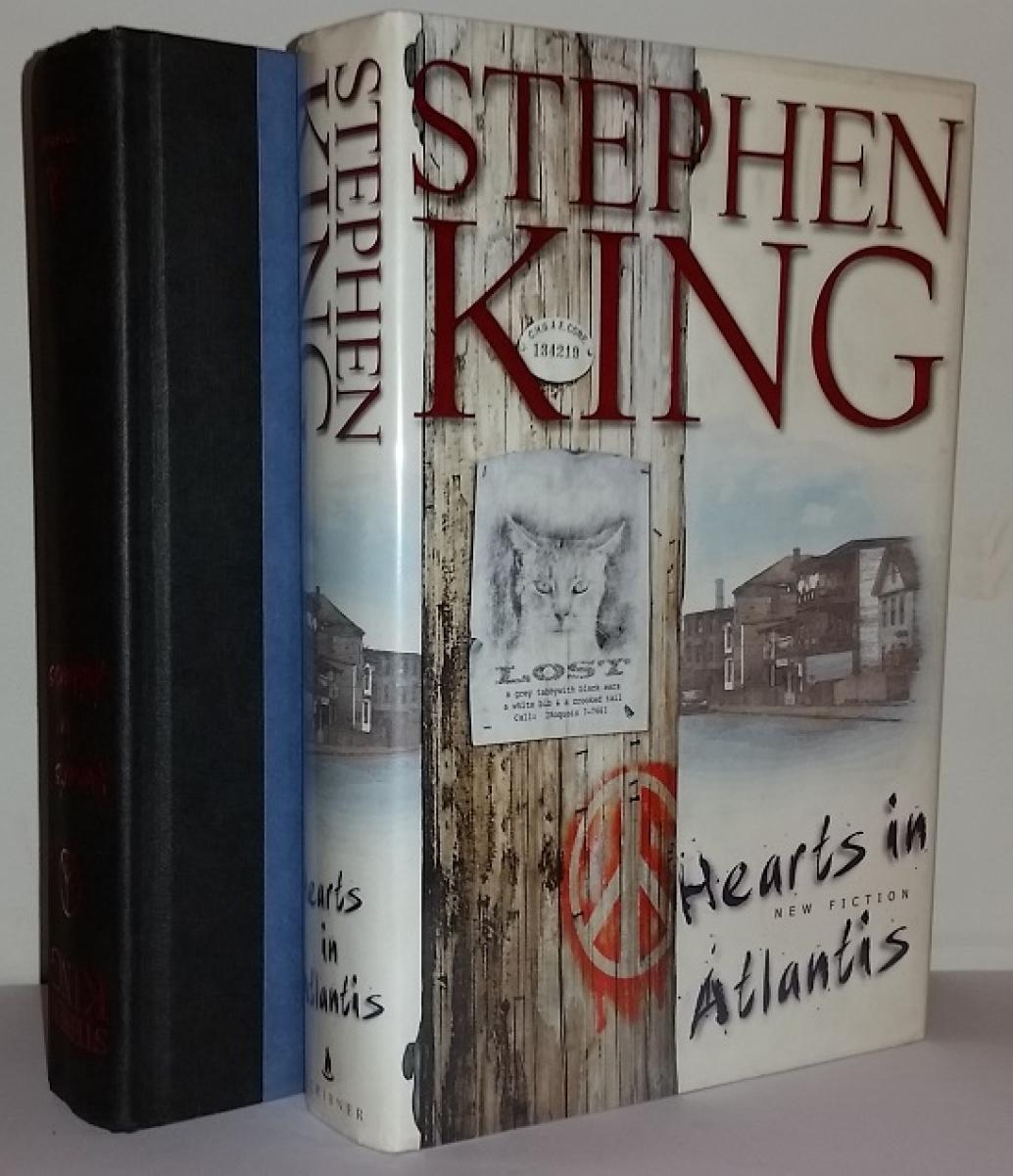 """""""Hearts in Atlantis"""" - książka i obwoluta - obrazek"""