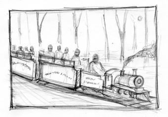 Vincent Chong - Ghost Train - szkic - obrazek