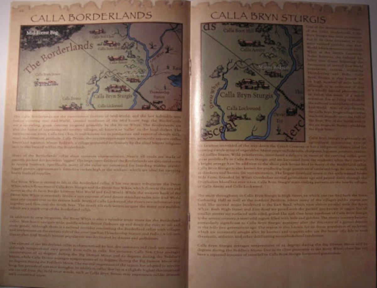 """""""The Dark Tower: End-World Almanac"""" - przykładowa strona - obrazek"""