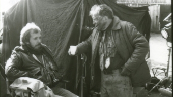 Reżyser Lewis Teague i aktor Sandy Ward na planie w Santa Rosa - obrazek