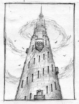 Mroczna Wieża VII - wstępny szkic