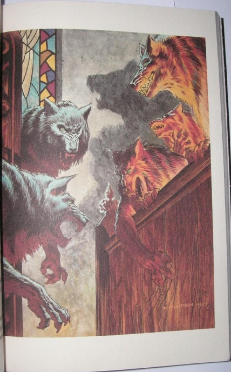 """""""Rok Wilkołaka"""" przykładowa ilustracja Bernie Wrightsona z wydania Prószyńskiego - obrazek"""