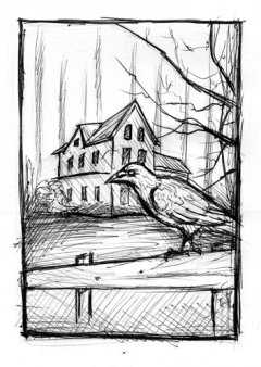 Black House - sketch - obrazek