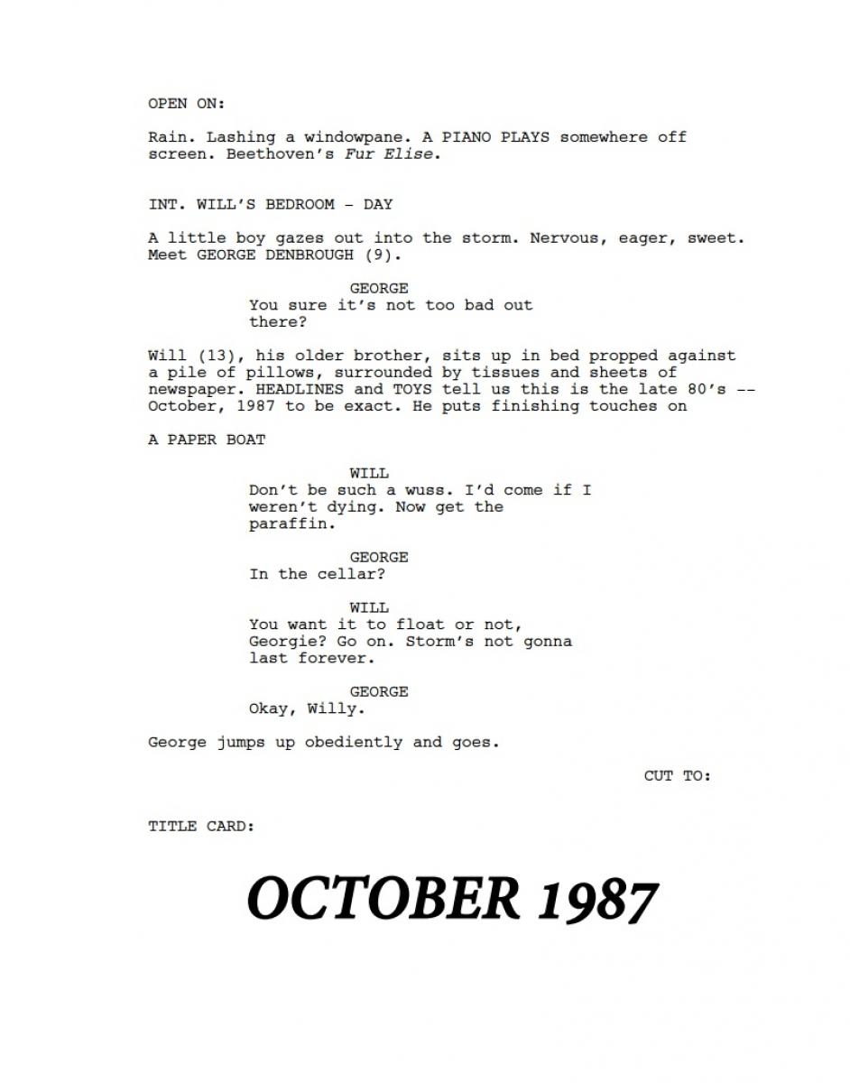 IT - wczesny scenariusz - strona pierwsza - obrazek