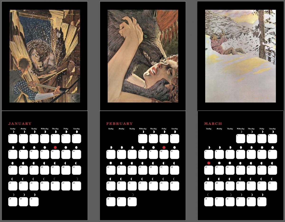 Cycle of Werewolf - przykładowe strony kalendarza - obrazek