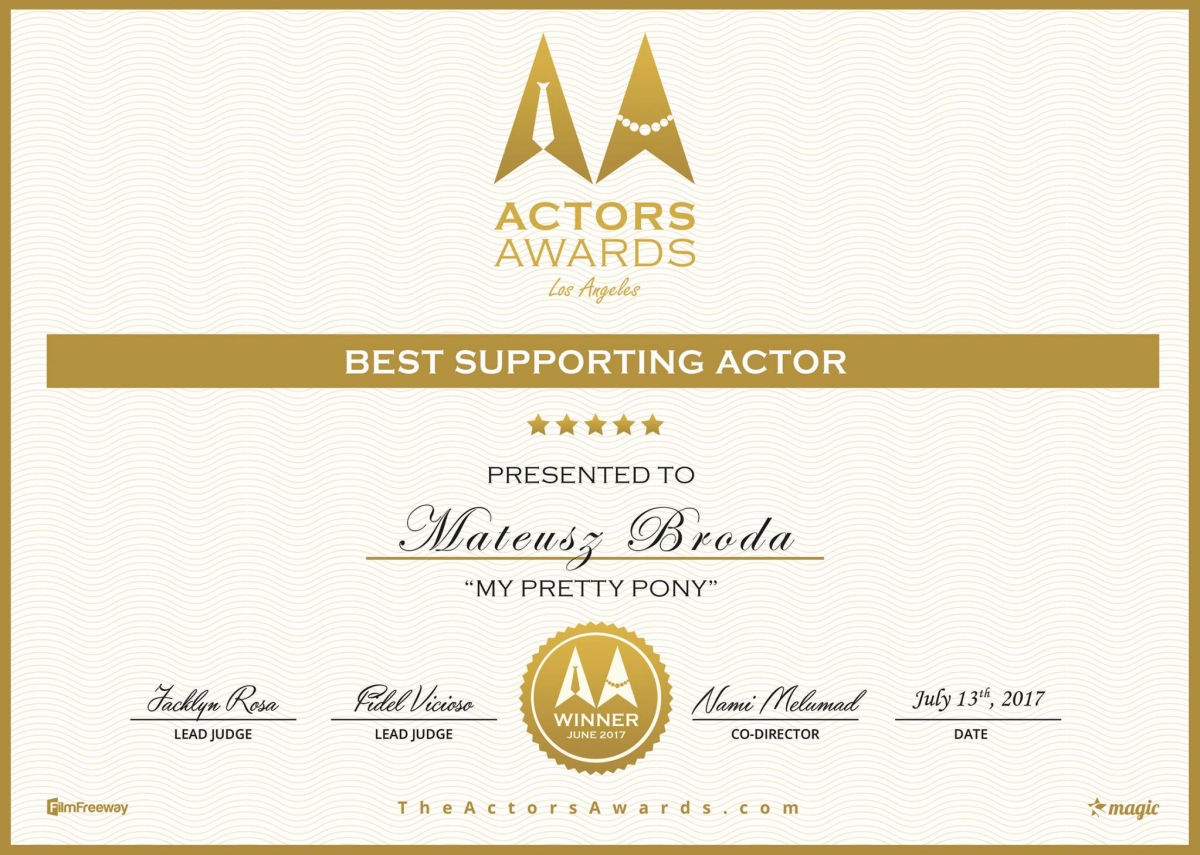 Mateusz Broda - Best Supporting Actor - obrazek
